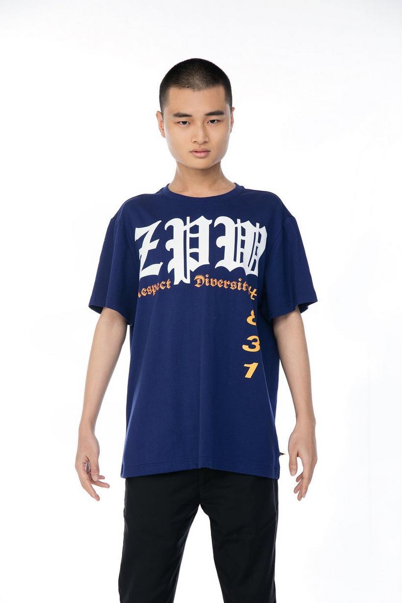 Paars T-shirt met print - ZulupaPUWA - Unisex - Zulu Papuwa